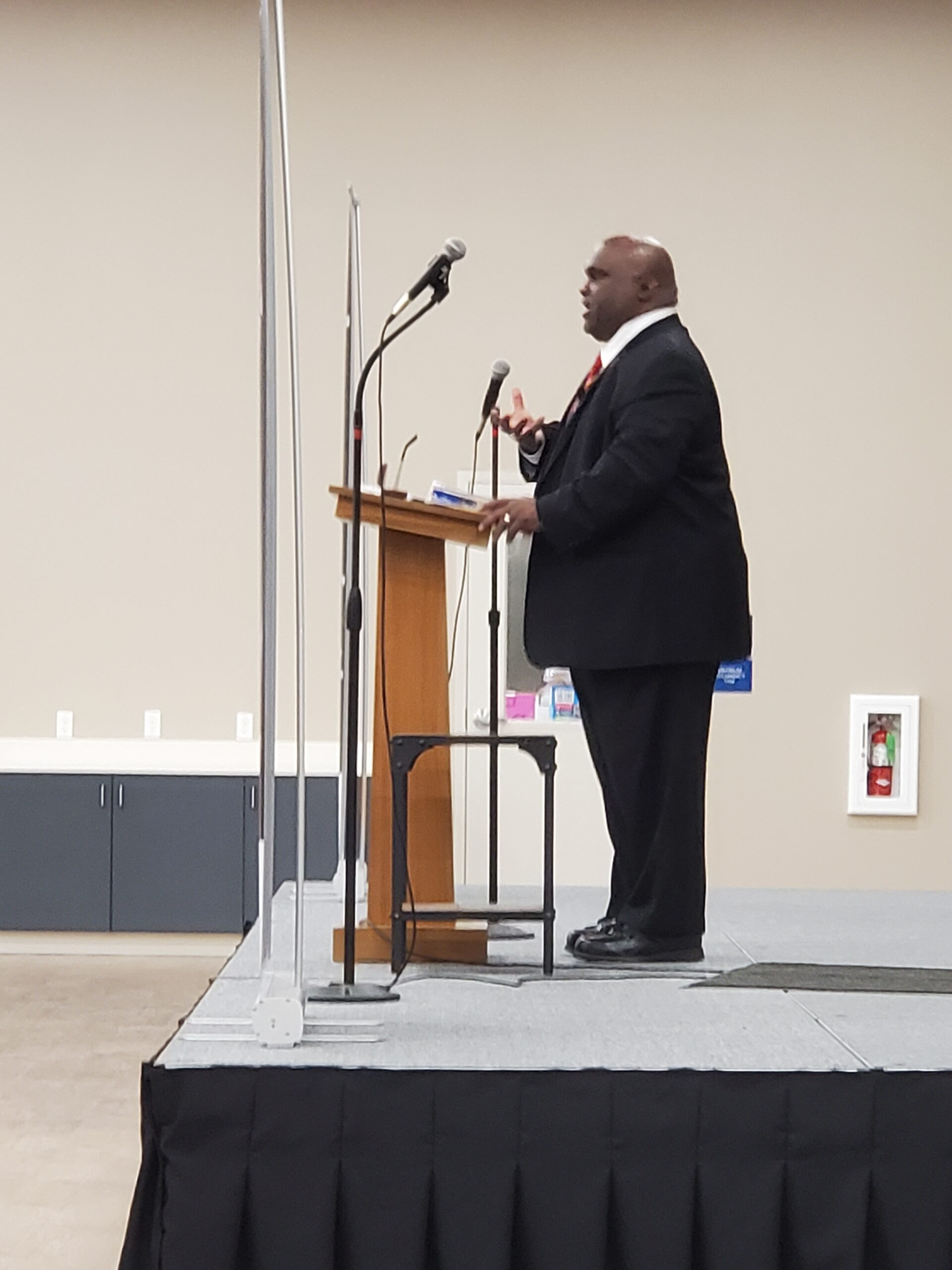 Deacon Harold Burke-Sivers was our guest speaker at the Mens Conference on Sat Sep 4 at St Marys.